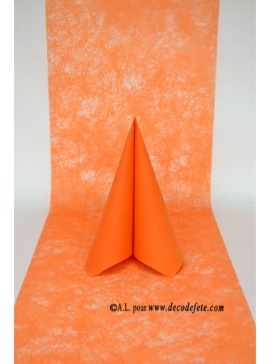 10m chemin de table romance orange - Chemin de table orange ...