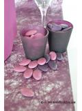 10M Chemin de table FIBRE prune