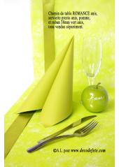 10M Chemin de table FIBRE vert anis