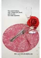 10 Sous assiettes FIBRE bordeaux