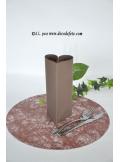 10 Sous assiettes FIBRE chocolat