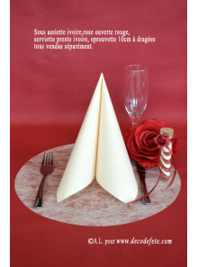 10 Sous assiettes FIBRE ivoire