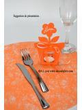 10 Sous assiettes FIBRE orange
