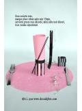 10 Sous assiettes FIBRE rose