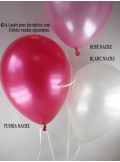 6 ballons Vive les Mariés vert pomme nacré