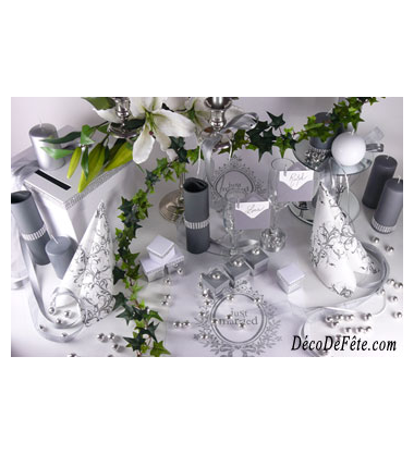 decoration de tabl juste married - deco de fete