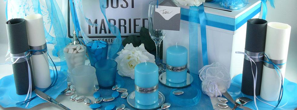 Deco De Table Turquoise Blanc Deco De Fete